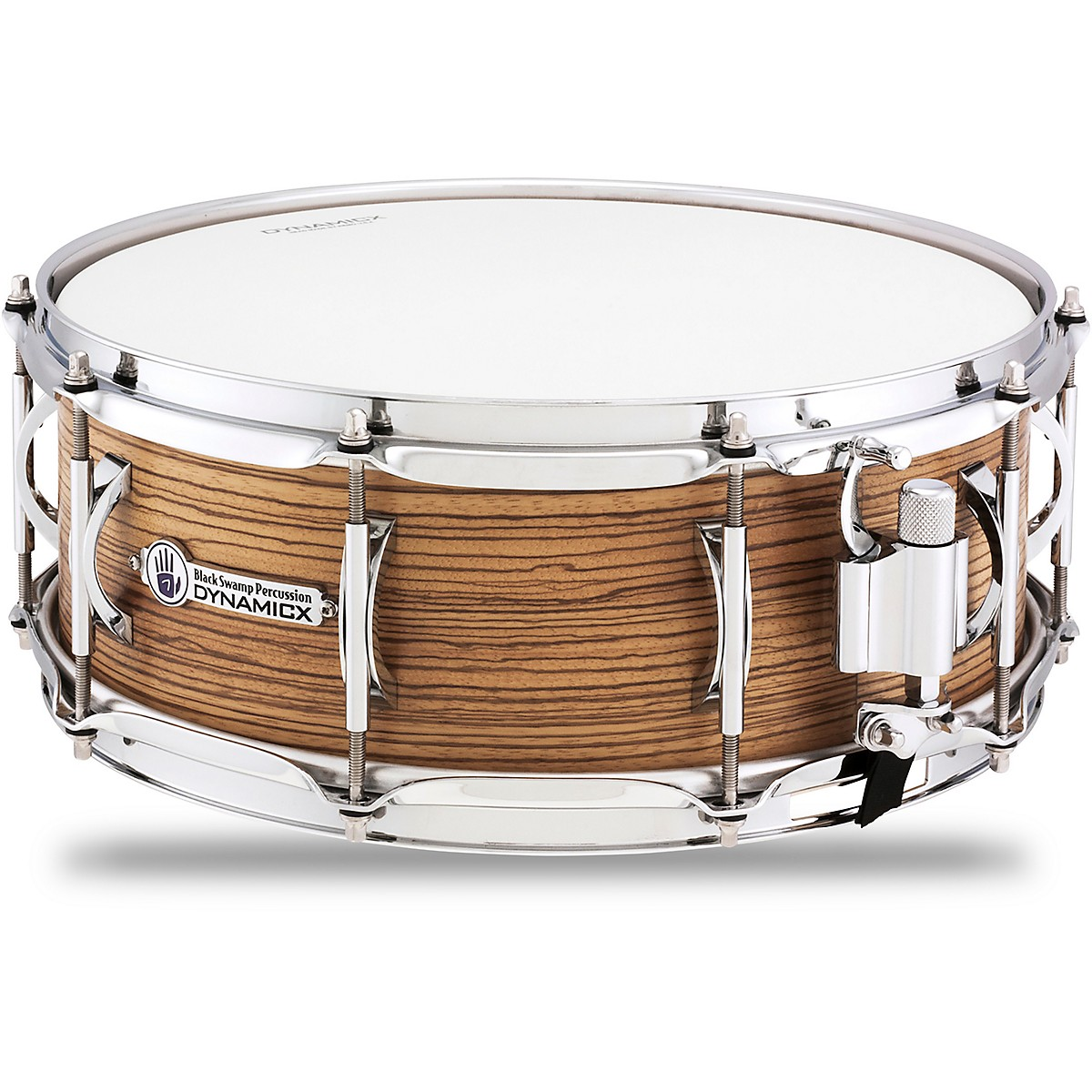 Black Swamp Percussion Dynamicx BackBeat Series Snare Drum with Zebrawood Veneer