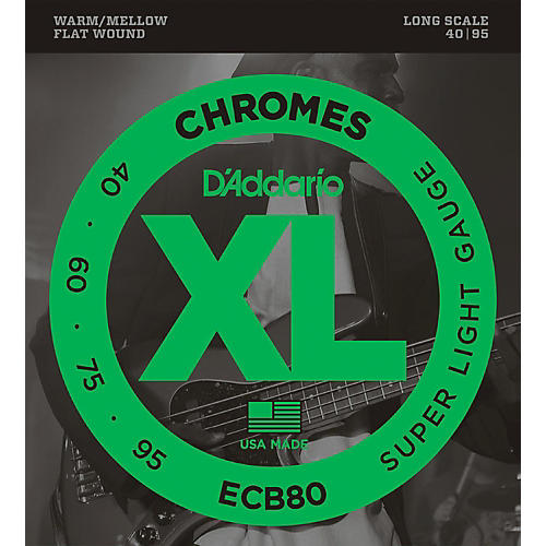 D'Addario ECB80 XL Chromes Flat Wound Bass Strings