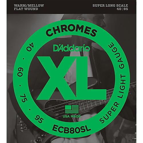 D'Addario ECB80SL Chromes Flat Wound Super Soft/Long Bass Strings