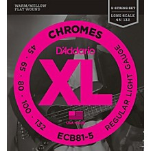 D'Addario ECB81-5 Chromes XL Flatwound Bass Strings - Light Gauge