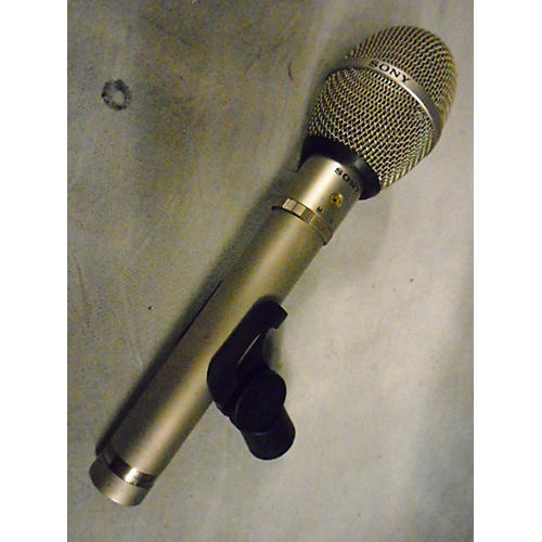 Sony ECM23F Black And Silver Condenser Microphone
