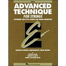 Hal Leonard EE Advanced Technique for Strings Violin