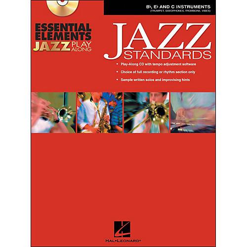 Hal Leonard EE Jazz Play Along: Jazz Standards B-Flat, E-Flat And C Instruments Book/CD-Rom