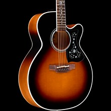 Takamine EF450C Thermal Top Acoustic-Electric Guitar Brown Sunburst
