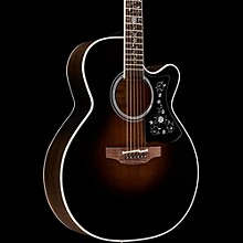 EF450C Thermal Top Acoustic-Electric Guitar Transparent Black Sunburst
