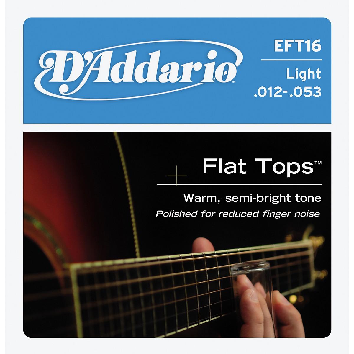 D'Addario EFT16 Flat Top PB Light Acoustic Guitar Strings