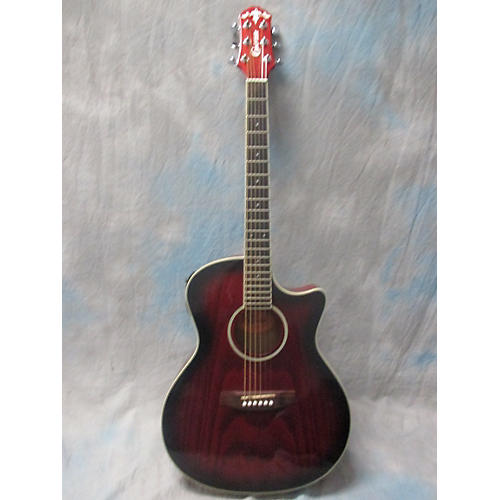 used crafter guitars eg110ceq rs acoustic electric guitar guitar center