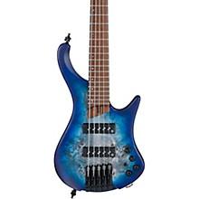 EHB1505 5-String Ergonomic Headless Bass Pacific Blue Burst Flat
