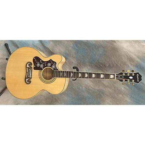 used epiphone ej200 left handed acoustic guitar guitar center. Black Bedroom Furniture Sets. Home Design Ideas