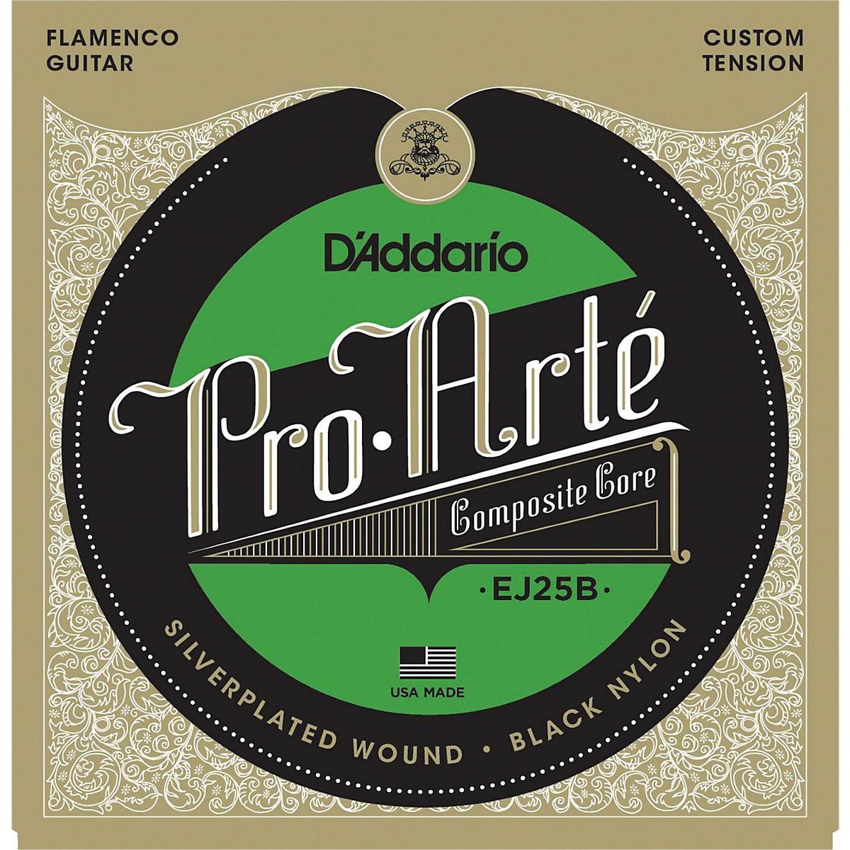 D'Addario EJ25B Pro-Arte Composites Flamenco Guitar Strings - Black Nylon