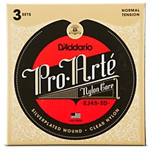 D'Addario EJ45 Pro-Arte Classical Guitar Strings 3-Pack