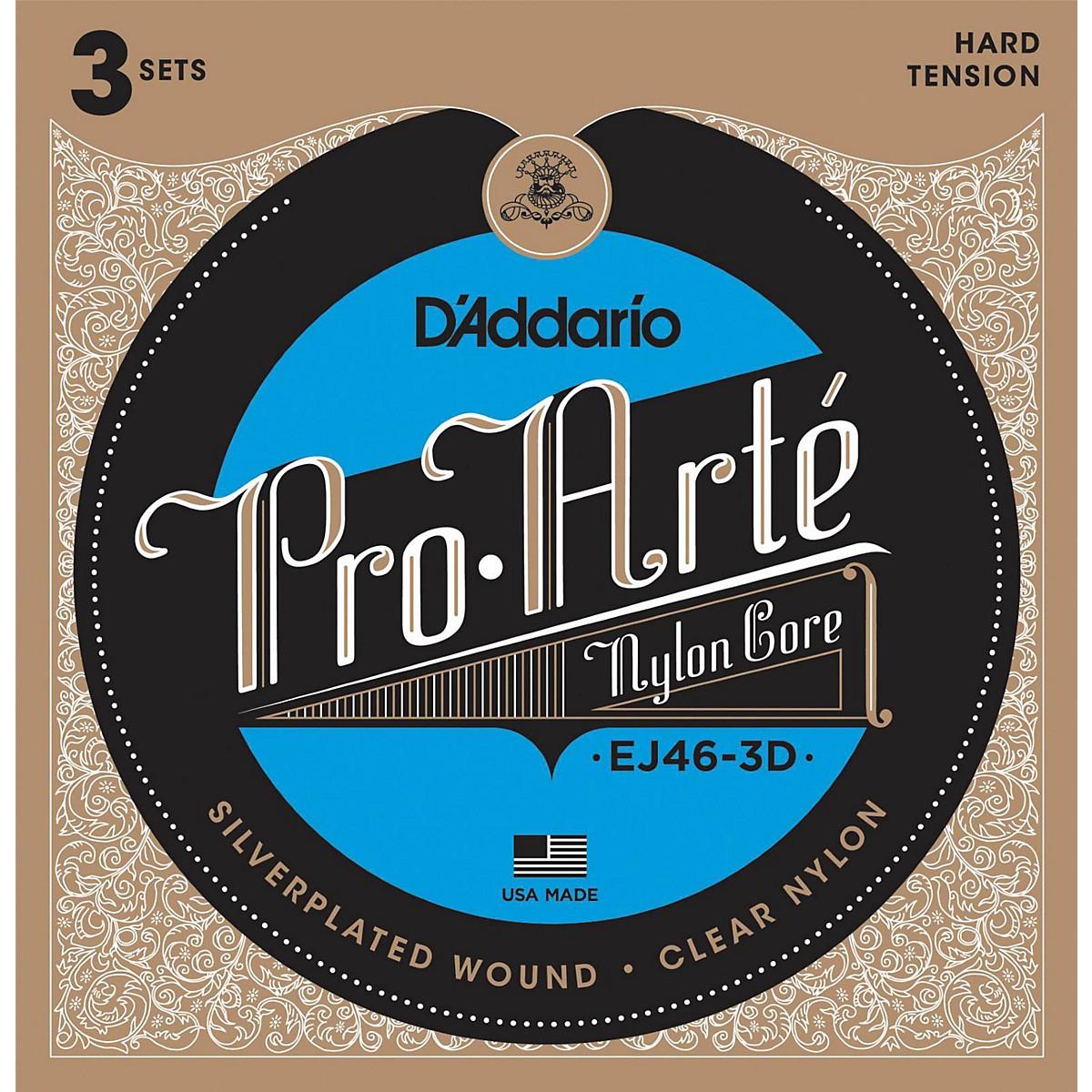 D'Addario EJ46 Pro-Arte Classical Guitar Strings 3-Pack