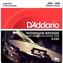 D'Addario EJ55 Phosphor Bronze Medium 5-String Banjo Strings (10-23)