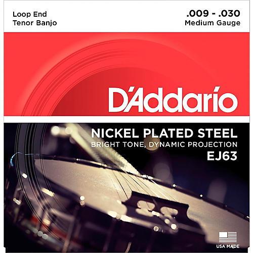 D'Addario EJ63 Nickel Tenor Banjo Strings (9-30)
