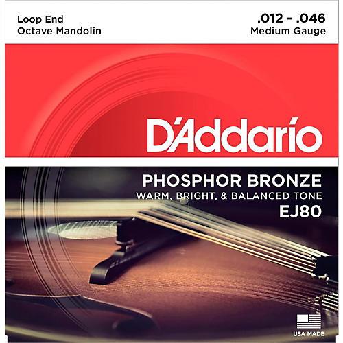 D'Addario EJ80 Octave Mandolin Strings, Medium, 12-46