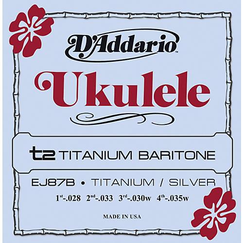 Daddario Ej87b Titanium Baritone Ukulele Strings Guitar Center