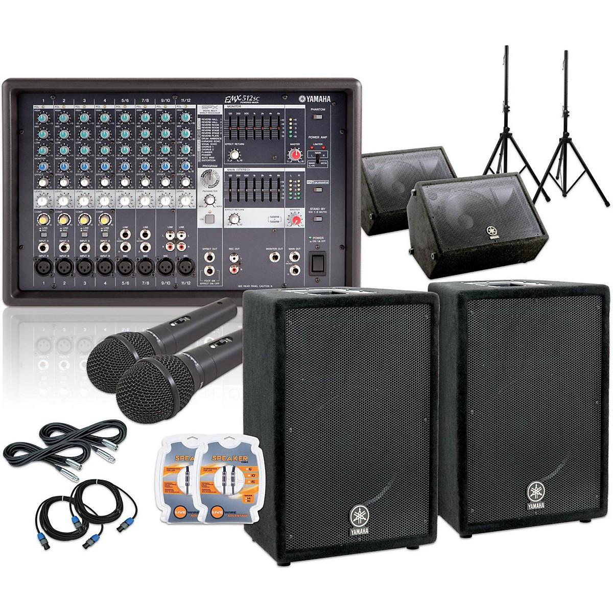 Yamaha Emx512sc A12 A12m Mains Amp Monitors Pa Sys Guitar