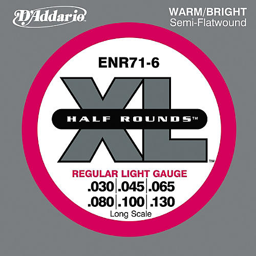 D'Addario ENR71-6 Half Rounds Light 6-String Bass Strings