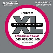 D'Addario ENR71M Half Rounds Light Bass Strings