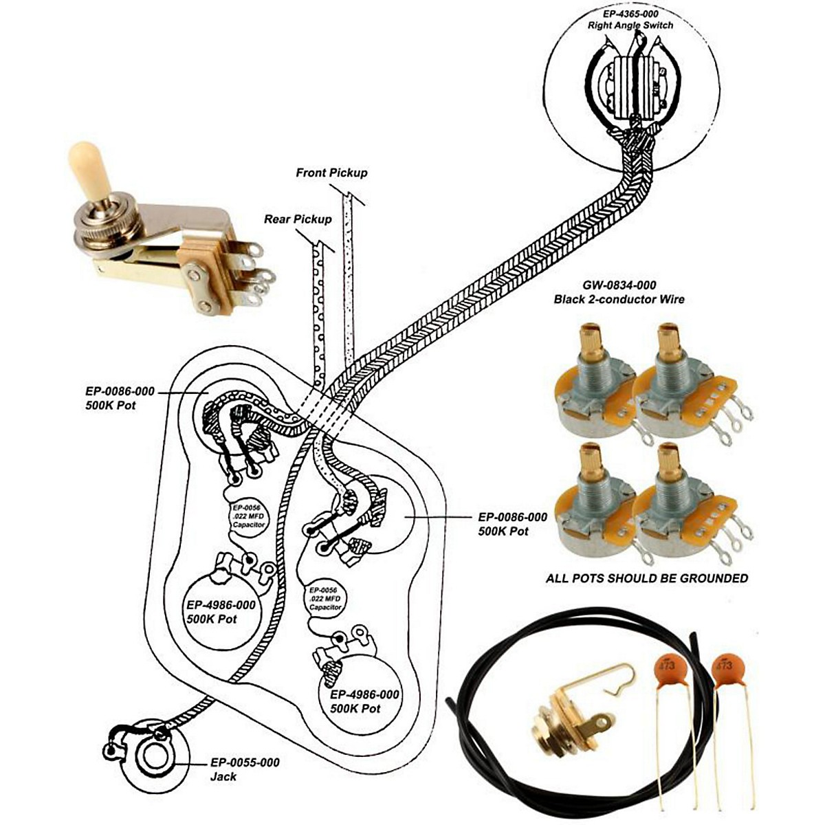 holiday electric guitar wiring diagram allparts ep 4147 000 wiring kit for gibson es 335 guitar center  wiring kit for gibson es 335