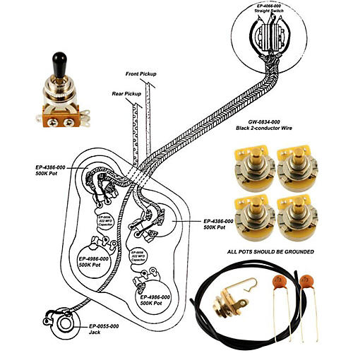 Allparts Ep 4148 000 Wiring Kit For Epiphone