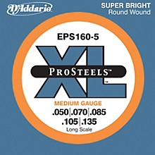 D'Addario EPS160-5 Pro Steels Medium Gauge Long Scale 5-String Bass Strings Level 1