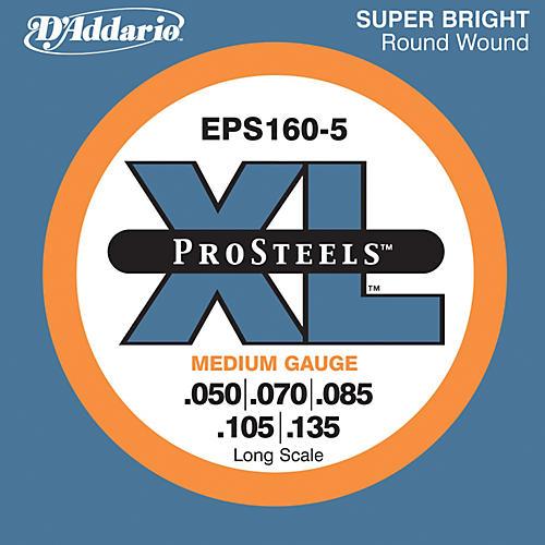 D'Addario EPS160-5 Pro Steels Medium Gauge Long Scale 5-String Bass Strings