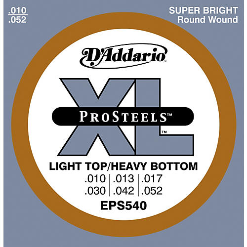 D'Addario EPS540 ProSteels Light Top/Heavy Bottom Electric Guitar Strings
