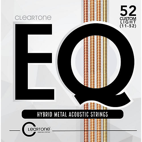Cleartone EQ - Hybrid Metal Series Custom Light Acoustic Guitar Strings (11-52)