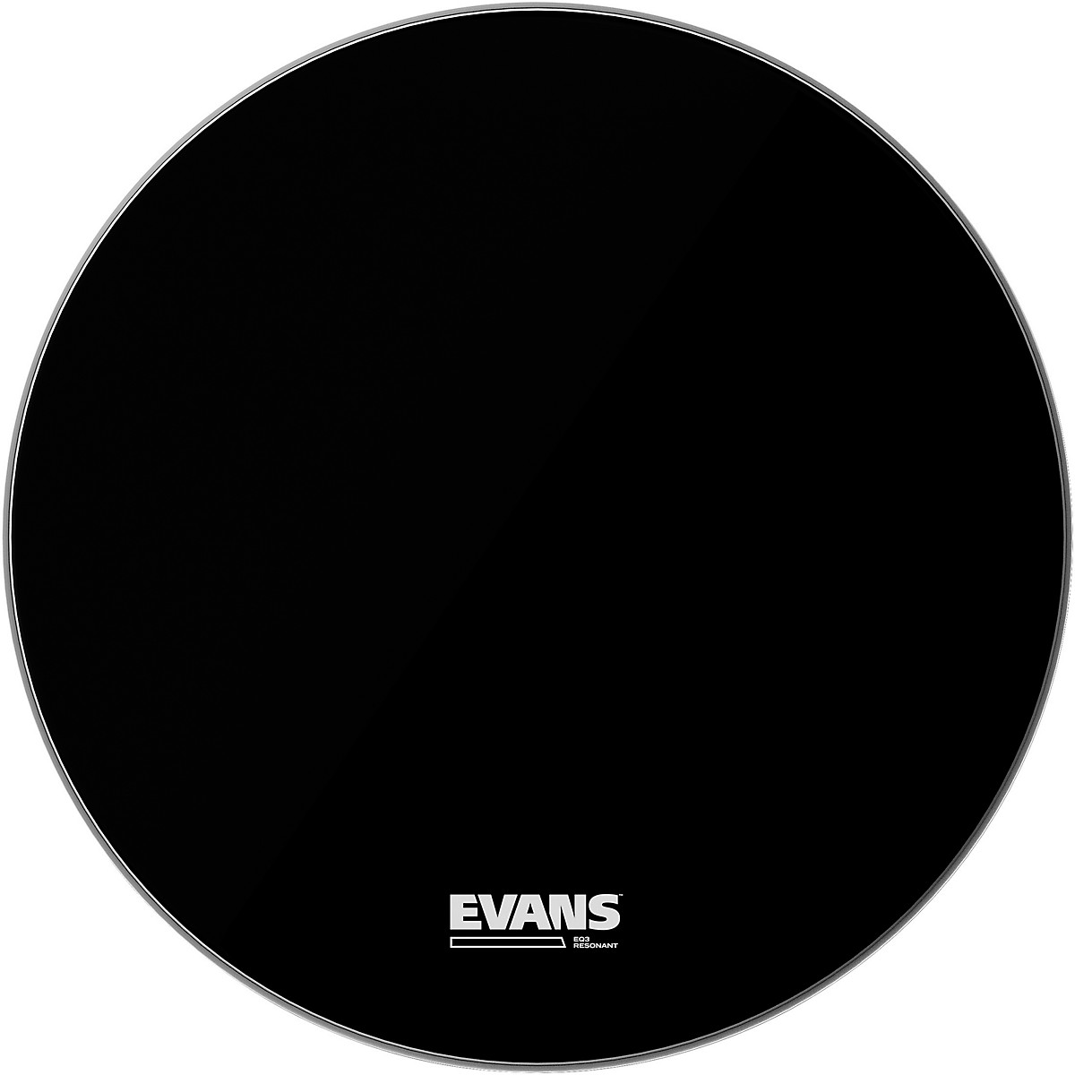 Evans EQ3 Resonant Black Tom Drumhead for Floor Tom Conversion