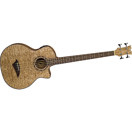Dean EQA Exotic Quilt Acoustic-Electric Bass Guitar