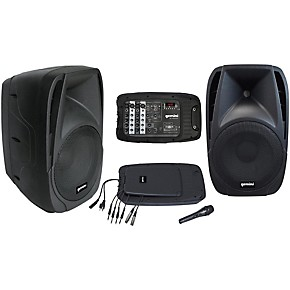 gemini es 210mxblu portable pa system guitar center. Black Bedroom Furniture Sets. Home Design Ideas