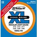 D'Addario ESXL110 Steinberger Regular Light Double Ball End Electric Guitar Strings thumbnail
