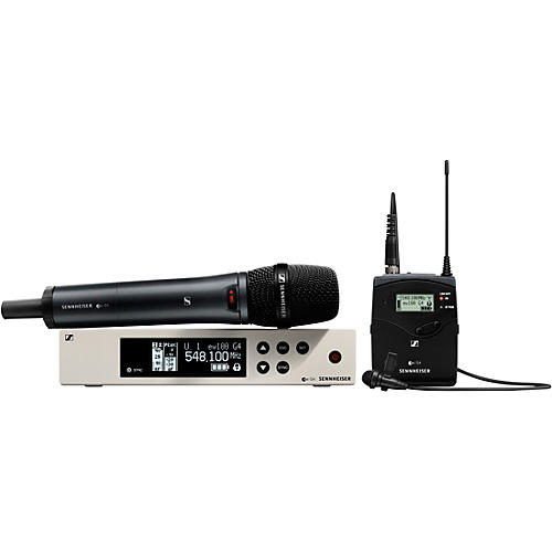 Sennheiser EW 100 G4-ME2/835-S Combo Wireless Handheld and Lavalier Microphone System