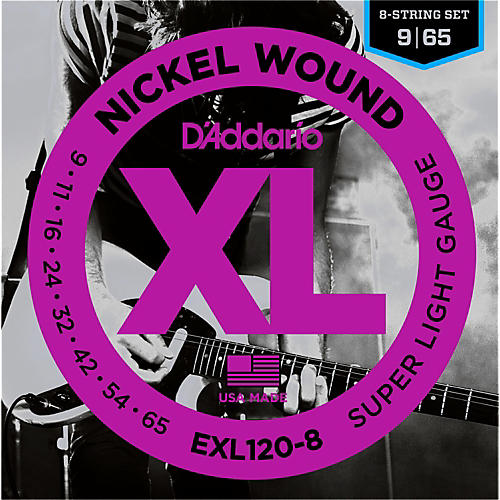 D'Addario EXL120-8 8-String Super Light Electric Guitar Strings
