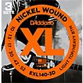 D'Addario EXL140 Light Top/Heavy Bottom Electric Guitar Strings 3-Pack thumbnail
