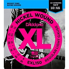 D'Addario EXL150 Nickel XL 12-String Electric Guitar Strings