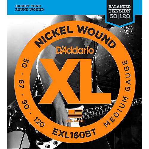 D'Addario EXL160BT Balanced Tension 50-120 Long Scale Electric Bass String Set