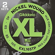 D'Addario EXL165TP Twin-Pack Bass Guitar Strings