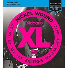 D'Addario EXL170-5 XL Nickel Round Wound 5-String Long Bass Strings