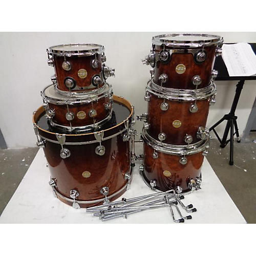 used dw exotic redwood drum kit guitar center. Black Bedroom Furniture Sets. Home Design Ideas