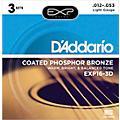 D'Addario EXP16-3D Coated Phosphor Bronze Light Acoustic Guitar Strings 3-Pack thumbnail