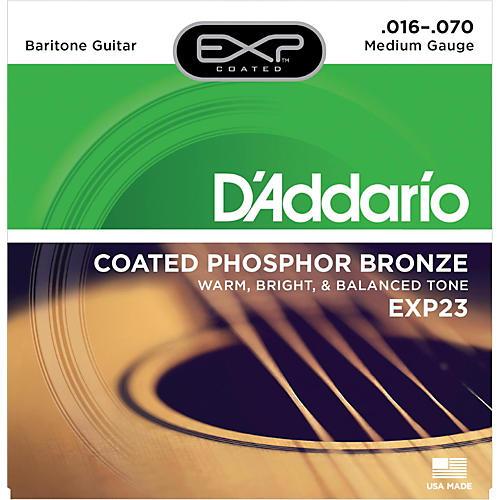 D'Addario EXP23 Coated Phosphor Bronze Baritone Acoustic Guitar Strings
