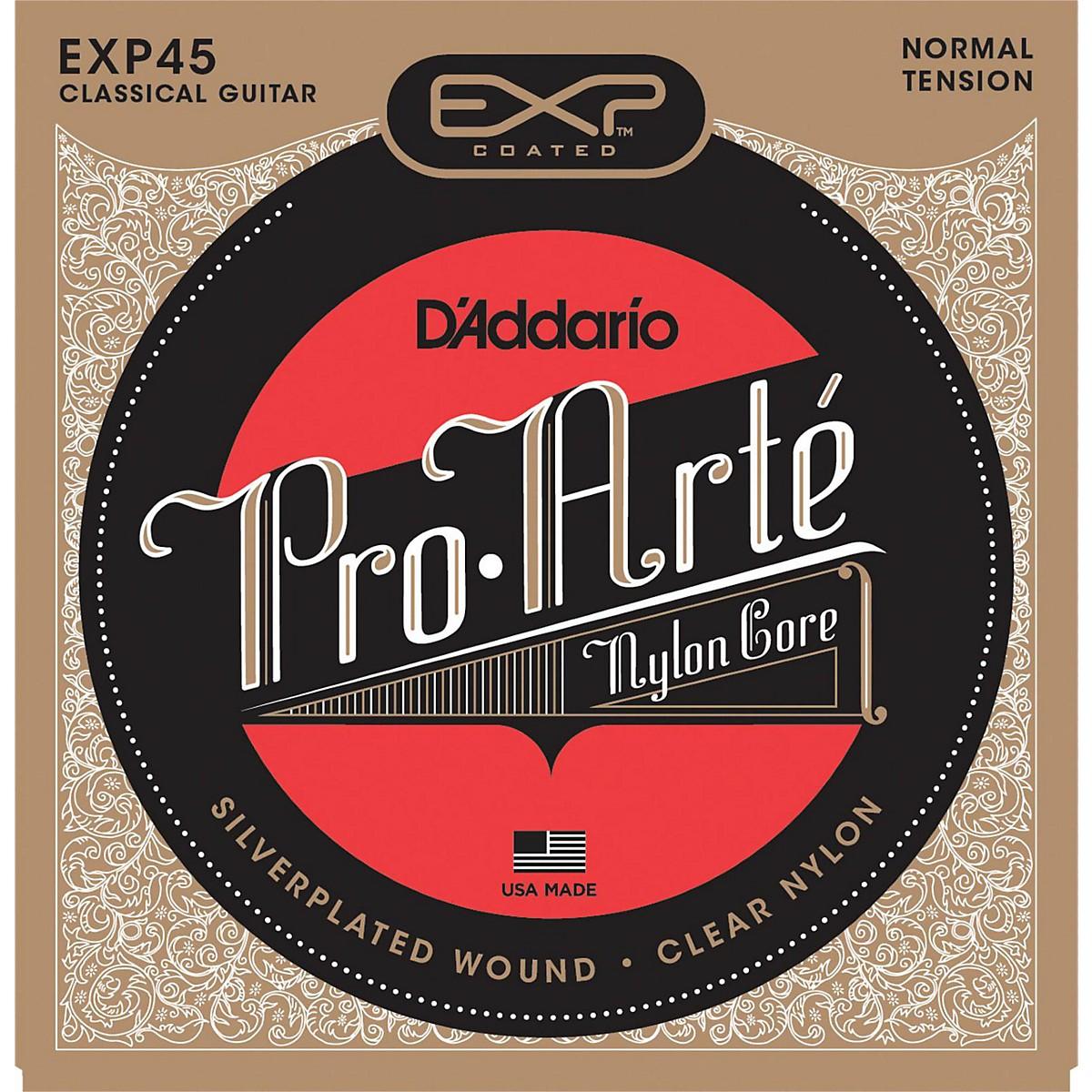 D'Addario EXP45 Coated Nylon Guitar Strings Normal Tension