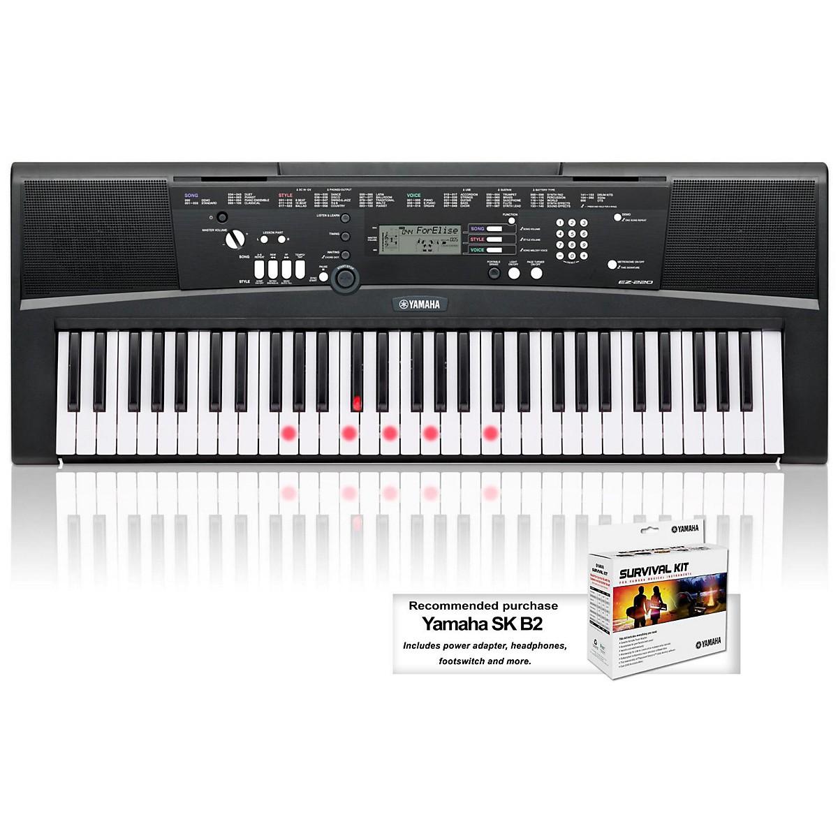 Yamaha EZ-220 61-Key Lighted Key Portable Keyboard