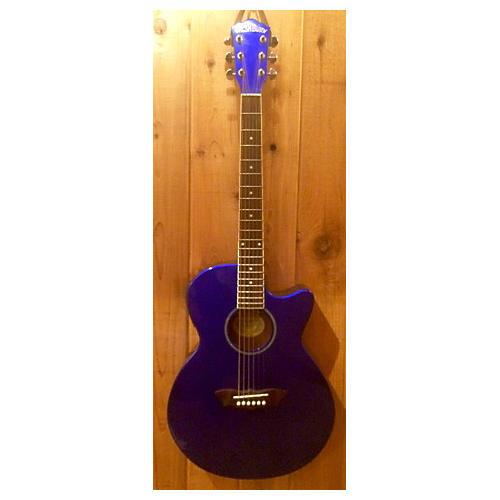 Washburn Ea16mbl CANDY BLUE Acoustic Electric Guitar