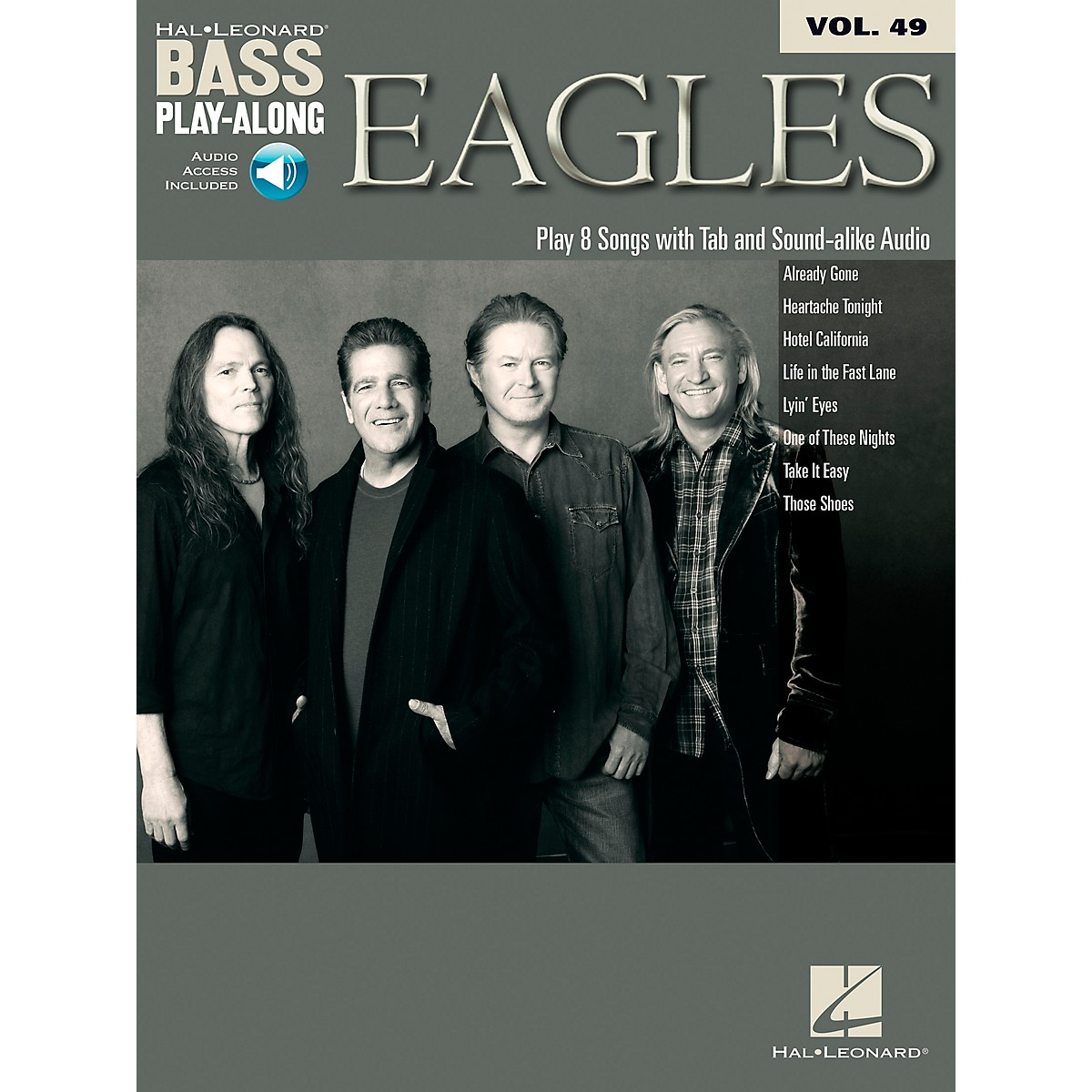 Hal Leonard Eagles - Bass Play-Along Vol. 49 Book/CD