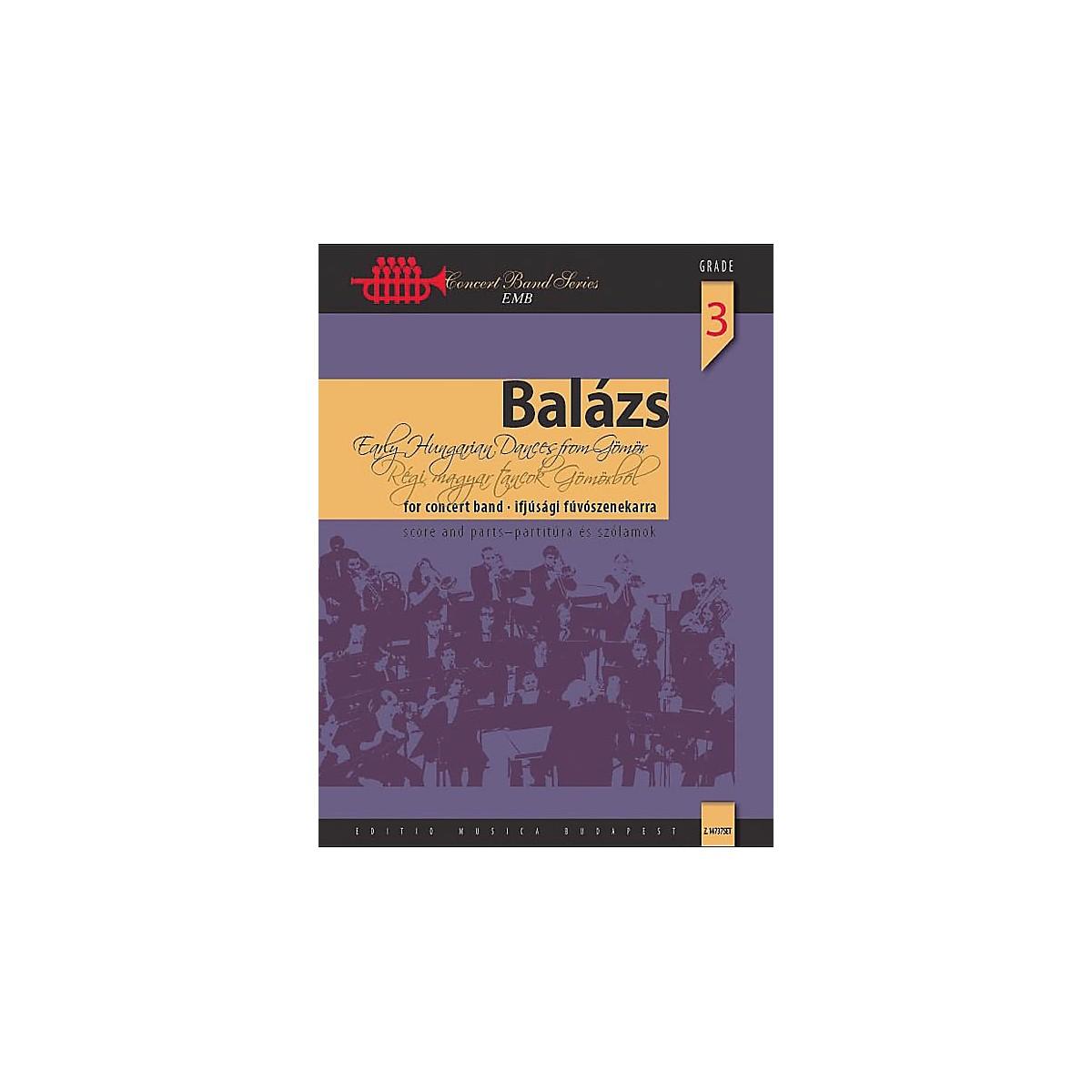 Editio Musica Budapest Early Hungarian Dances from Gömör Concert Band Level 3.5 Composed by Árpád Balázs