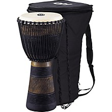 Earth Rhythm Series Original African-Style Rope-Tuned Wood Djembe with Bag Large