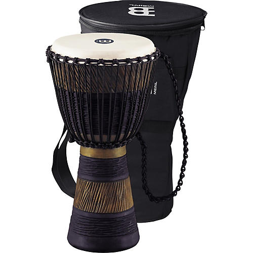 Meinl Earth Rhythm Series Original African-Style Rope-Tuned Wood Djembe with Bag